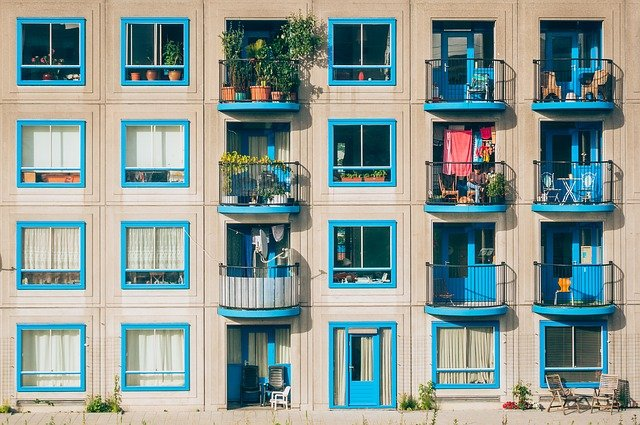 posezení na balkonech