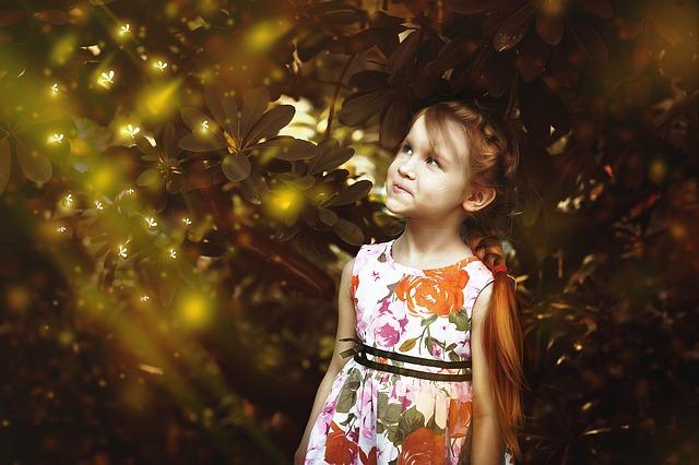holčička v lese