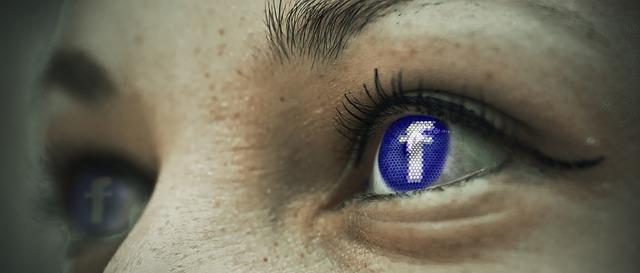 oči, logo Facebook