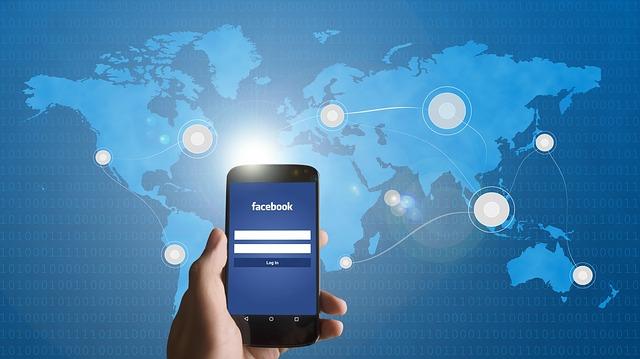 mapa, mobil, Facebook