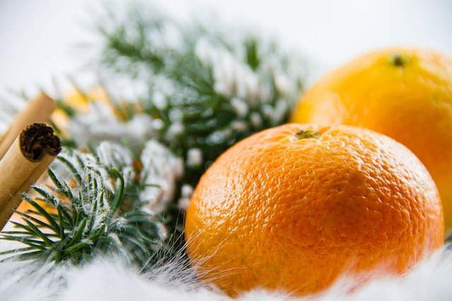 mandarinka na vánoce